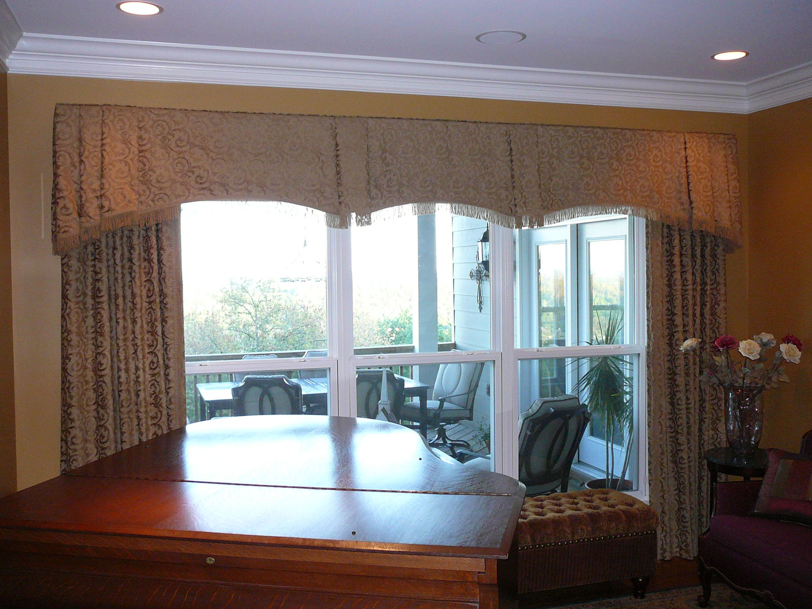 Door valances for Valances for dining room windows